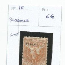 Sellos: 1915-16 - LIBIA - ITALIA. Lote 50145488