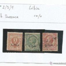 Sellos: 1912-15 - LIBIA - ITALIA. Lote 50145583