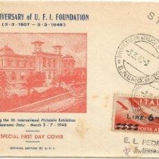Sellos: 1948 - SOBRE CONMEMORATIVO DEL DIA DEL SELLO - ITALIA. Lote 50469523