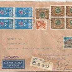 Sellos: 1966 - SOBRE DEL CORREO AÉREO DE ITALIA - ITALIA. Lote 50661739