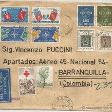 Sellos: 1959 - CARTA VOLADA DESDE ITALIA A COLOMBIA - ITALIA. Lote 50661750