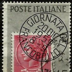 Sellos: ITALIA 1959- YV 0806. Lote 194602450