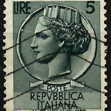 Sellos: ITALIA 1953- YV 0648. Lote 50861091