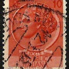 Sellos: ITALIA 1953- YV 0649. Lote 50861110