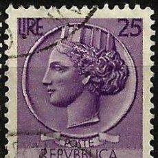Sellos: ITALIA 1953- YV 0652. Lote 50749653
