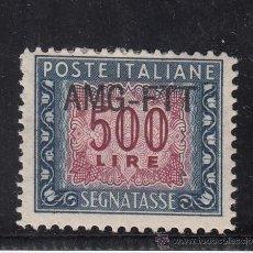 Sellos: ITALIA-TRIESTE ZONA A - TASA 26 CON CHARNELA, SOBRECARGADO . Lote 51014756