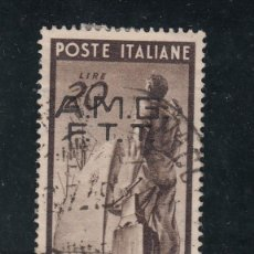 Sellos: ITALIA-TRIESTE ZONA A - 41 USADA, SOBRECARGADO, RECONSTRUCCIÓN DE EUROPA,. Lote 51017072