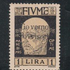 Sellos: ITALIA FIUME 141 CON CHARNELA, SOBRECARGADO,. Lote 51017227