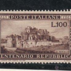 Sellos: ITALIA 537 CON CHARNELA, CENTº DE LA REPUBLICA ROMANA. Lote 51050172