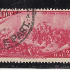Sellos: ITALIA 526 USADA, CENTº DE RESURGIMIENTO, BOLOGNE . Lote 51050472