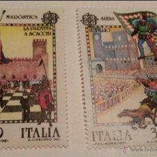 Sellos: 1981, EUROPA, ITALIA, FOLKLORE. NUEVO SIN CHARNELA.. Lote 51711616