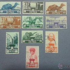Sellos: SELLOS DE ERITREA. COLONIA ITALIANA. YVERT 194/204. SERIE COMPLETA USADA.. Lote 52394896