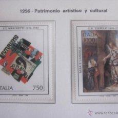 Sellos: SERIE SELLOS ITALIA. PATRIMONIO ARTISTICO. AÑO 1996. NUEVO. Lote 52879211