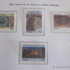 Sellos: SERIE SELLOS ITALIA. TESOROS MUSEOS. AÑO 1996. NUEVO. Lote 52879235