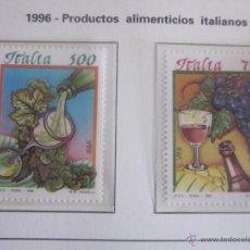 Sellos: SERIE SELLOS ITALIA. PRODUCTOS ALIMENTACIÓN ITALIANOS. AÑO 1996. NUEVO. Lote 52879259