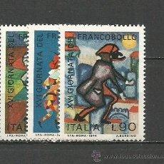 Sellos: ITALIA YVERT NUM. 1205/1207 ** SERIE COMPLETA SIN FIJASELLOS. Lote 55051176