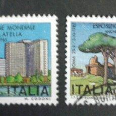 Sellos: SELLOS DE ITALIA. YVERT 1615/6. SERIE COMPLETA USADA. . Lote 55798995