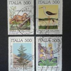 Sellos: SELLOS DE ITALIA. FAUNA Y FLORA. YVERT 1658/61. SERIE COMPLETA USADA.. Lote 55892073