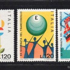 Sellos: ITALIA 1364/66** - AÑO 1978 - DIA DEL SELLO. Lote 295532513