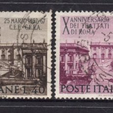 Sellos: ITALIA 961/62 - AÑO 1967 - 10º ANIVERSARIO DEL TRATADO DE ROMA. Lote 57243693