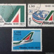 Sellos: SELLOS DE ITALIA. AVIONES. YVERT 1080/2. SERIE COMPLETA USADA.. Lote 57281409