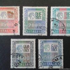 Sellos: SELLOS DE ITALIA. YVERT 1367/71. SERIE COMPLETA USADA.. Lote 57295282