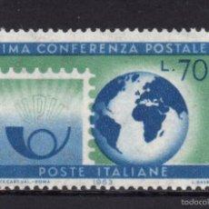 Sellos: ITALIA 888** - AÑO 1963 - CENTENARIO DE LA CONFERENCIA POSTAL DE PARIS. Lote 268173589