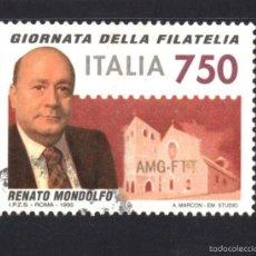 Sellos: ITALIA 2146 - AÑO 1995 - DIA DE LA FILATELIA - RENATO MONDOLFO. Lote 295532578