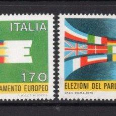Sellos: ITALIA / ITALY AÑO 1979 YVERT Nº 1391/92 ** MNH - ELECCIONES AL PARLAMENTO EUROPEO. Lote 58478600