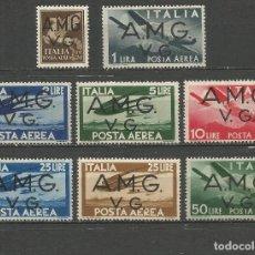 Sellos: ITALIA VENECIA-GIULIA 1945 OCUPACION INTERALIADA CORREO AEREO YVERT NUM. 1/8 * SERIE COMPLETA NUEVA. Lote 64319203