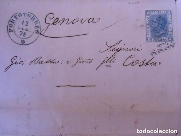Sellos: Carta circulada de Portorres a Génova (Italia). Con sello. 1876 - Foto 2 - 64841227