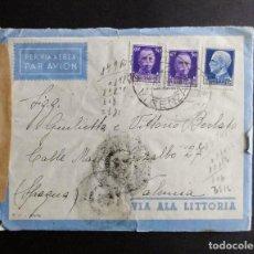 Sellos: SOBRE AEREO CIRCULADO ITALIA 18 ENERO 1943 MATASELLOS SCHIO VICENZA Y MADRID. Lote 70333833