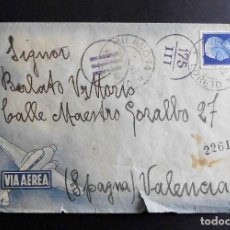 Sellos: ITALIA SOBRE CIRCULADO 1942 CORREO AEREO. Lote 70401197