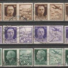 Sellos: ITALIA 1944. SELLOS CON PROPAGANDA DE GUERRA . *. MH (16-380). Lote 70446361