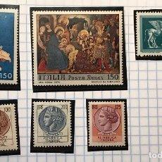 Sellos: LOTE DE 6 SELLOS NUEVOS DE ITALIA.. Lote 74637579