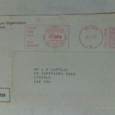 Sellos: ITALIA 1975 FRANQUEO MECÁNICO FOOD FOR ALL FAO MONEY. Lote 74747235