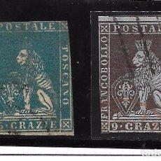 Sellos: ITALIA. ESTADOS ITALIANOS. TOSCANA 7-8. Lote 74868299