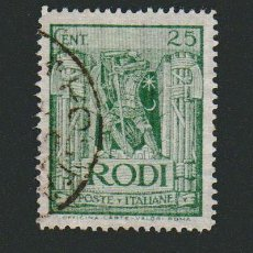 Sellos: ITALIA.ISLAS DEL MAR EGEO.RODAS.1929.-25 CENT.YBERT 18.USADO. Lote 76636639