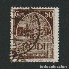 Sellos: ITALIA.ISLAS DEL MAR EGEO.RODAS.1929.-50 CENT.YBERT 20.USADO. Lote 76636867