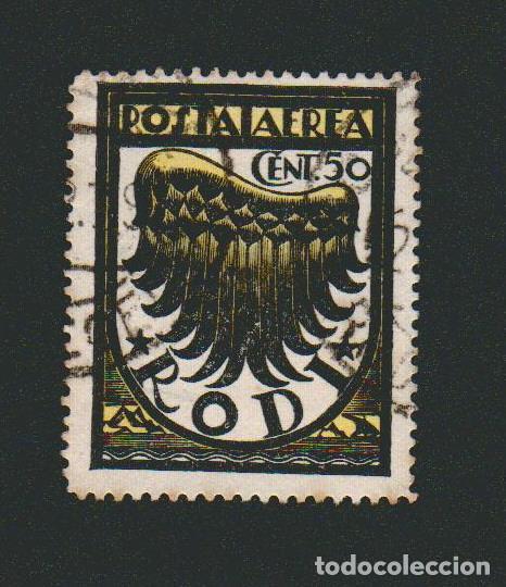ITALIA.ISLAS DEL MAR EGEO.RODAS.1933.CORREO AÉREO.50 CENT.YBERT 1.USADO (Sellos - Extranjero - Europa - Italia)