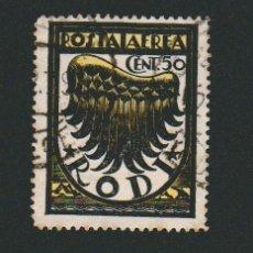 Sellos: ITALIA.ISLAS DEL MAR EGEO.RODAS.1933.CORREO AÉREO.50 CENT.YBERT 1.USADO. Lote 76637011