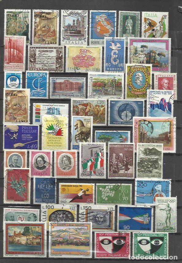 G26-LOTE SELLOS ITALIA SIN TASAR,ANTIGUOS Y MODERNOS.ALGUNOS EN EURO. . PUEDE HACER EL PAGO VIA PAY (Sellos - Extranjero - Europa - Italia)