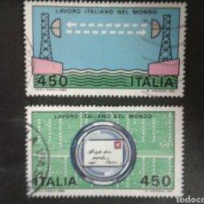 Sellos: SELLOS DE ITALIA. YVERT 1532/3. SERIE COMPLETA USADA.. Lote 80336677