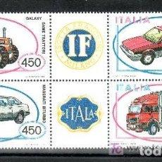 Sellos: ITALIA 1984 IVERT 1604/7 *** FABRICACIÓN DE AUTOMOVILES ITALIANOS (I) - COCHES. Lote 87440396