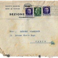 Sellos: ITALIA 1930 CARTA ENVIADA DE FLORENCIA A PARIS.. Lote 87454864