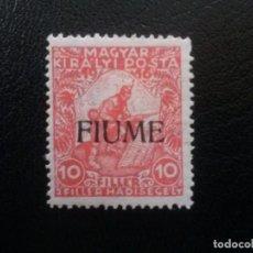 Sellos: FIUME , ITALIA, YVERT Nº 1 * CHARNELA , 1919. Lote 87636612