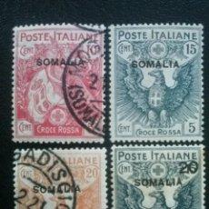 Sellos: SOMALIA ITALIANA , YVERT Nº 20 - 23 , SERIE COMPLETA , 1916. Lote 87714348