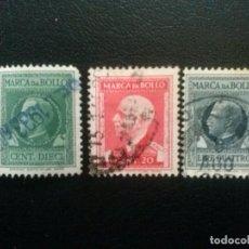 Sellos: ITALIA, 3 SELLOS FISCALES DIFERENTES. Lote 88147760