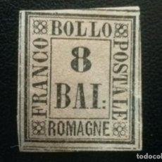 Sellos: ITALIA , ROMAGNE , ANTIGUOS ESTADOS, YVERT Nº 8 , 1859. Lote 89351132