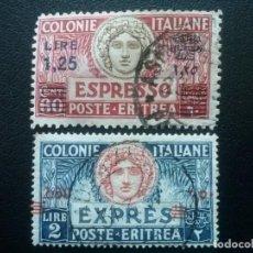 Sellos: ERITREA , COLONIA ITALIANA, URGENTE, YVERT Nº 7B + 8 , 1926-37. Lote 89358204